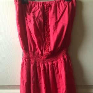 Guess Strapless Pink Dress Womens Sz L